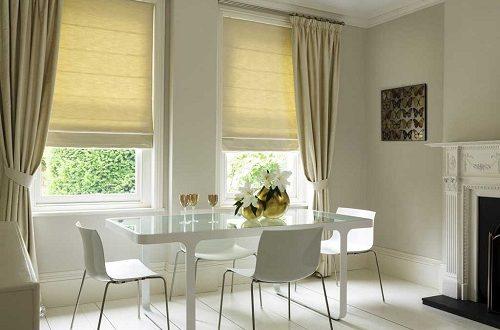 Римские шторы как декоративный элемент для гостиной и спальни